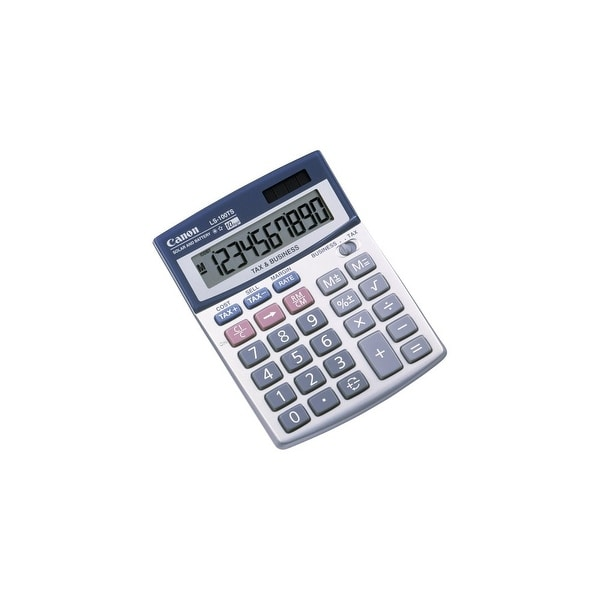 Canon LS-100TS Portable Business Calculator Canon LS-100TS Pocket Calculator - 10 Digit(s) - LCD - Battery/Solar Powered -