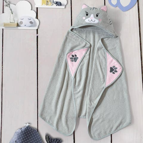 Style Quarters hooded towel-cat