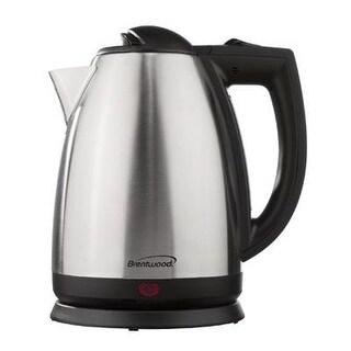 Brentwood Appliances Brentwood Appliances 2.0-Liter Stainless Steel Electric Cordless Tea Kettle, 1000-Watt, Brushed, ,