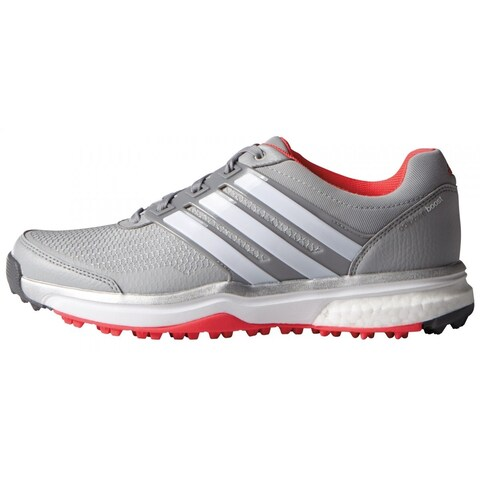 Adidas Women's Adipower Sport Boost 2 Clear Onix/FTWR White/Shock Red Golf Shoes F33289