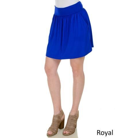 Simply Ravishing Shirred Mini Skirt w/ Pockets (Size: XS-3X)