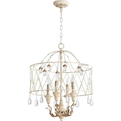 """Quorum International 6744-4 Venice 20"""" Wide 4 Light Pendant with Crystal Accents"""