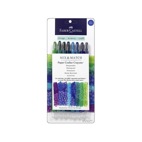 FaberCastell Paper Crafter MM Crayon Set Blue/Grn