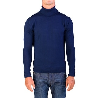 Valentino Men's Turtleneck Sweater Navy Blue