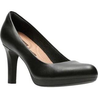 Clarks Women's Adriel Viola Pump Black Full Grain Leather