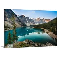 Premium Thick-Wrap Canvas entitled Moraine Lake, Canada - Multi-color