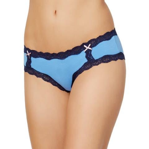 Jenni by Jenni Moore Women's Lace Hipster Panty Marina Size 2-Extra Large - Blue - XX-Large