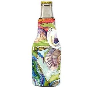 Crab Longneck Beer bottle sleeve Hugger with Zipper 12 oz.