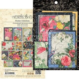 "Flutter Ephemera Cards-(16) 4""X6"" & (16) 3""X4"""