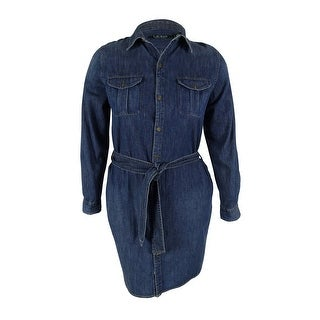 Lauren Ralph Lauren Women's Belted Denim Dress - xs
