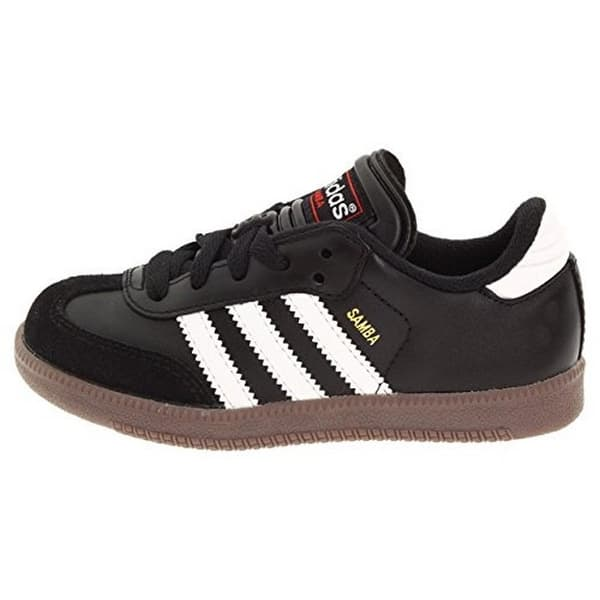 2a80cd95f Adidas Samba Classic Leather Soccer Shoe (Toddler/Little Kid/Big Kid),Black/Running  White,5 M Us Big Kid - 5 m us big kid
