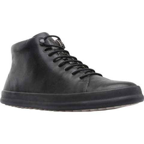 Camper Men's Chasis High Top Sneaker Black Smooth Leather