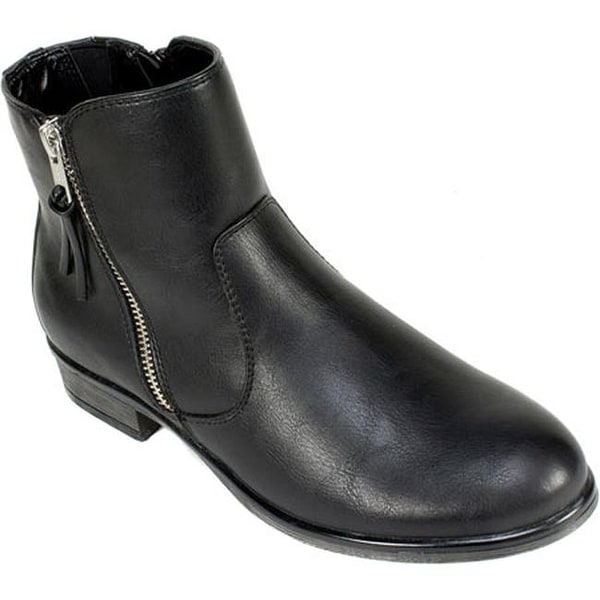 566e98258ad Shop White Mountain Women s Barlow Ankle Boot Black Smooth Synthetic ...