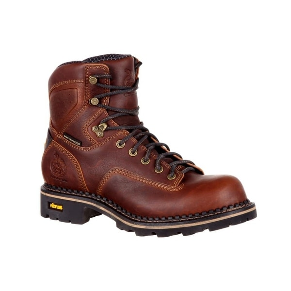Georgia Boot Work Mens Comfort Core Logger Dark Brown