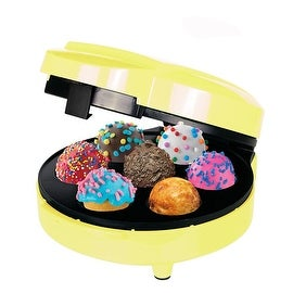 ZZ PM270-Y Pop Cake Maker with 7 Cake Pop Capacity, Yellow