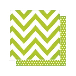 Simple Stories DIY Boutique Paper 12x12 Chev Green