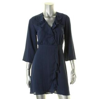 Aqua Womens Casual Dress Ruffled Cinched Waist