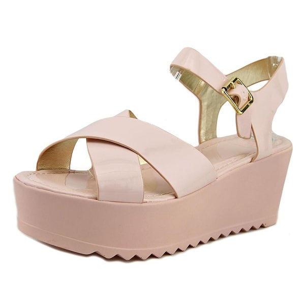 Material Girl Wave Women Open Toe Synthetic Wedge Sandal