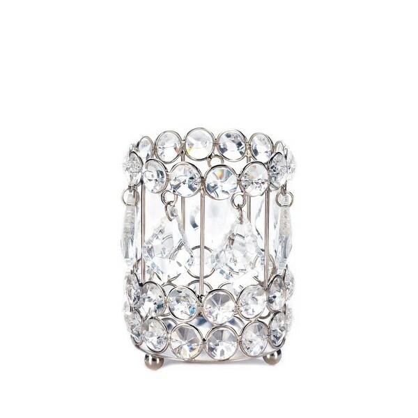Indoor Crystal Drop Candle Holder