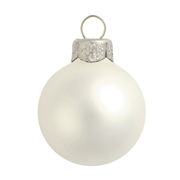 "40ct Matte Finish Silver Glass Ball Christmas Ornaments 1.5"" (40mm)"