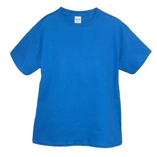 Gildan Boy's Cotton Crew Neck Tee Shirt
