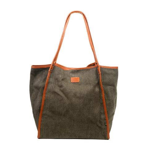 TSD Brand Pine Hill Canvas Tote Bag