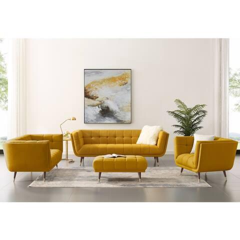 Art Leon Modern Tufted Fabric Sofa Chair