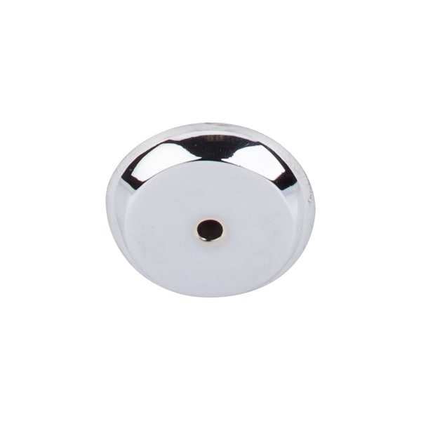 """Top Knobs M2027 Rounded 1-1/4"""" Diameter Knob Backplate from the Aspen II Series - Polished chrome"""