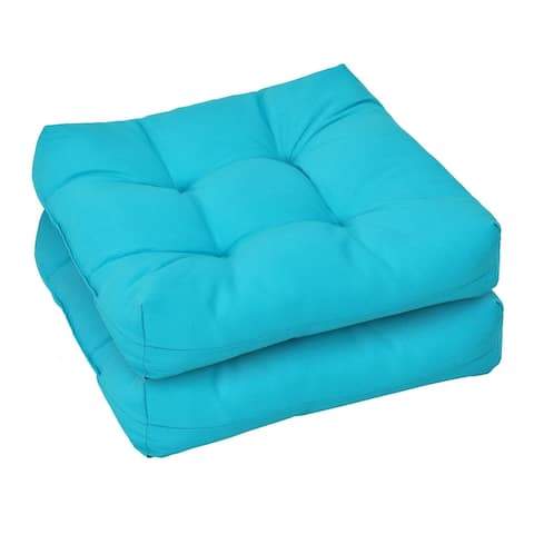 """21"""" x 21"""" Patio Chair Seat Cushion Pads for Indoor and Outdoor-Turquoise - Turquosie - 21"""" x 21"""" x 4"""" (L x W x H)"""
