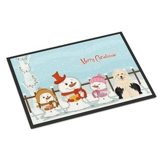 Carolines Treasures BB2427JMAT Merry Christmas Carolers Old English Sheepdog Indoor or Outdoor Mat 24 x 0.25 x 36 in.