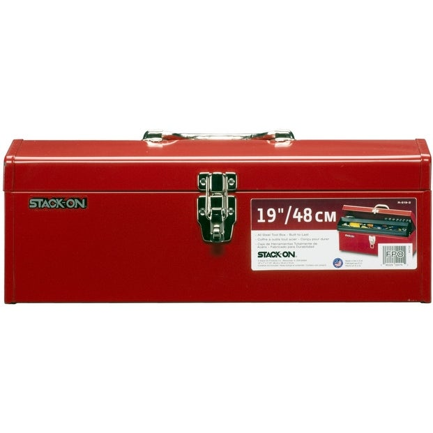 Stack On R 519 2 Multi Purpose Hip Roof Tool Box Red 19 Overstock 13457980