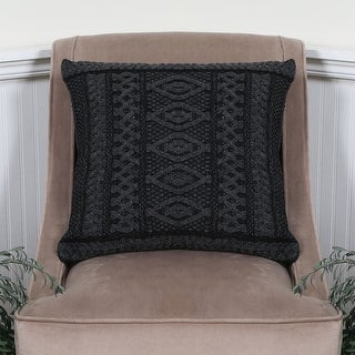 Plated Aran Wool Knit Cushion Cover