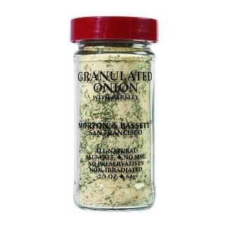 Morton & Bassett - Granulated Onion Seasoning ( 3 - 2.3 OZ)