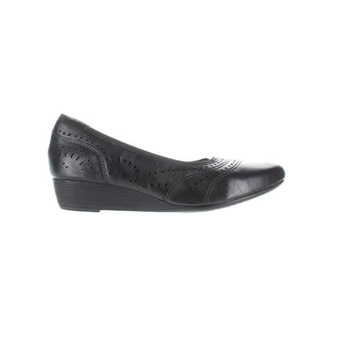 Cobb Hill Womens Judson Black Leather Pumps Size 10 (Narrow)