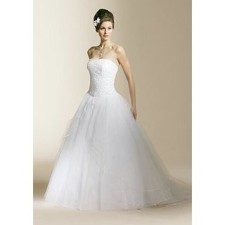 Strapless Beaded Tulle A-Line