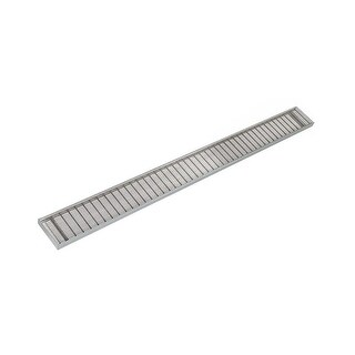 "Infinity Drain SAG 10048 Site Sizeable 48"" Long x 4"" Wide Drain Kit with Grate,"