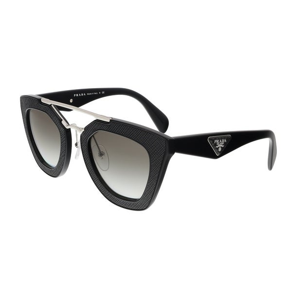 18659d4e64 Shop Prada PR 14SS 1AB0A7 Black Cat Eye Sunglasses - 49-26-140 ...