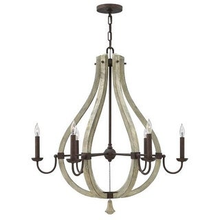 Fredrick Ramond FR40576 6 Light 1 Tier Chandelier from the Middlefield Collection