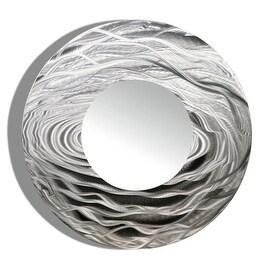 Statements2000 Silver Metal Decorative Wall-Mounted Mirror by Jon Allen - Mirror 114