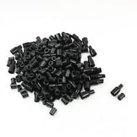 Unique Bargains 200Pcs Black PVC Insulated Covers Protector for Alligator Clip