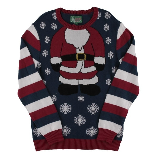 ugly christmas sweater mens pullover sweater christmas light up l