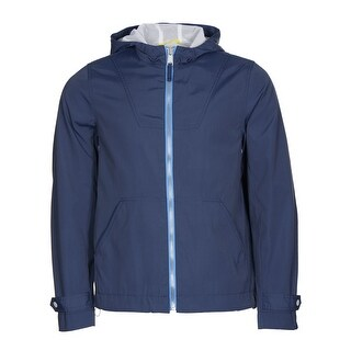 Tommy Hilfiger Hooded Windbreaker Jacket Catalina Blue Medium M