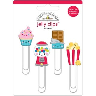 Doodlebug Jelly Clips 4/Pkg-So Sweet