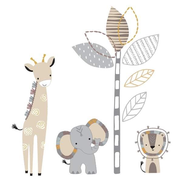 Lambs Ivy Jungle Safari Gray Tan