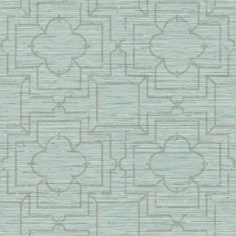 Belvedere, Quatrefoil Trellis Peel and Stick Wallpaper