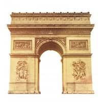 Advanced Graphics 1849 Paris ArcdeTriomphe Cardboard Standup