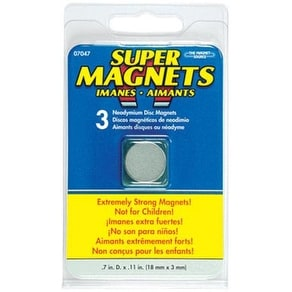 """Master Magnetics 07047 Super Neodymium Magnet, .709"""""""