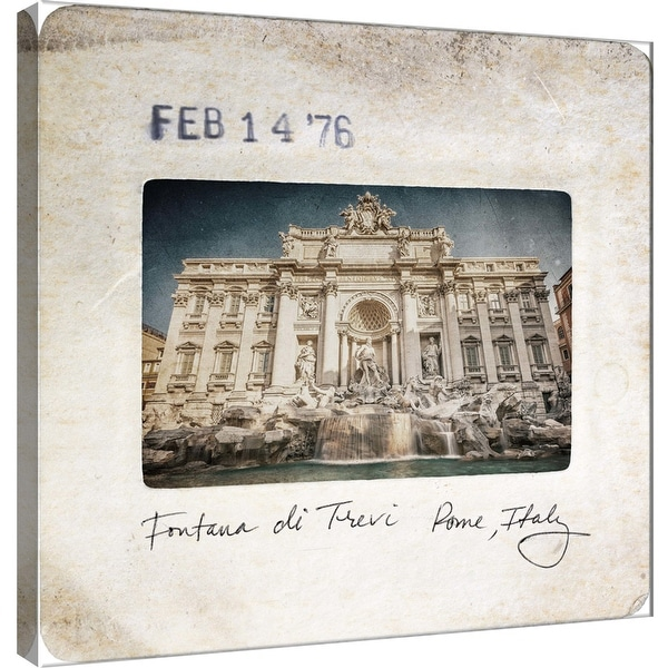 """PTM Images 9-101094 PTM Canvas Collection 12"""" x 12"""" - """"Slide of Rome A"""" Giclee Rome Art Print on Canvas"""