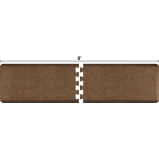 WellnessMats Anti-Fatigue Puzzle Set Office & Kitchen Mat, 8 Feet by 2 Feet, Granite Copper - granite copper