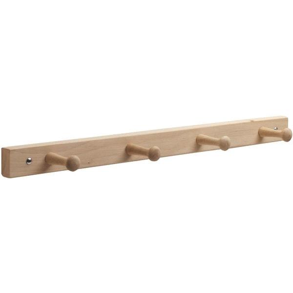 InterDesign 4 Peg Wood Rack